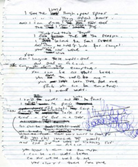 YCBE Original Lyrics Sheet 1