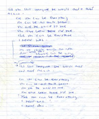 YCBE Original Lyrics Sheet 3